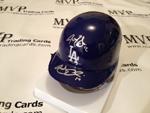 Authentic Autographed A.J. Ellis & Justin Sellers Autograph Mini Helmet