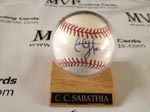 Authentic C.C. Sabathia Autograph Baseball