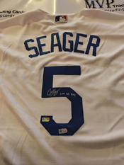 Authentic Corey Seager Autograph Jersey