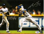 Authentic Autographed Dee Gordon & Justin Sellers 8x10 Photo