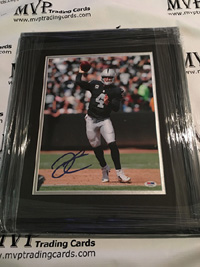 Derek Carr Framed 11x14 Authentic Autograph Raiders Photo