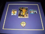 Authentic Derek Fisher Autographed 23x21 Shadow Box