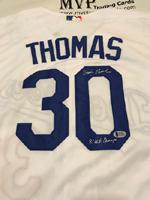 Authentic Derrel Thomas Autograph Dodgers Jersey