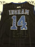 Authentic Brandon Ingram Autograph Alternate Black Duke Blue Devils Jersey