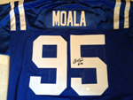 Fili Moala Authentic Autograph Indianapolis Colts Jersey