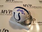 Fili Moala Authentic Autograph Indianapolis Colts Mini Helmet