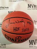 Authentic James Worthy Autograph NBA Replica Spalding Basketball