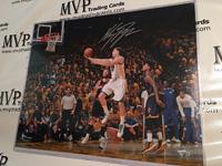 Klay Thompson Authentic Autograph 16x20 Photo