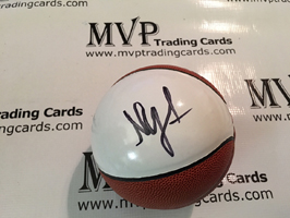 Nick Young Authentic Autograph Mini Basketball