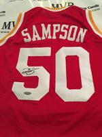 Authentic Ralph Sampson Autograph Jersey