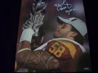 Rey Maualuga Authentic Autograph 15x20 Canvas