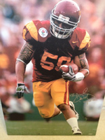 Rey Maualuga Authentic Autograph 13x20 Canvas