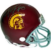 Authentic Steve Smith & Dwayne Jarrett Duel Autograph USC Mini Helmet