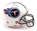 Authentic Vince Young Autograph Tennessee Titans Mini Helmet
